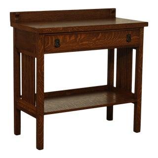 Antique Mission Oak Spindle Side One Drawer Server For Sale