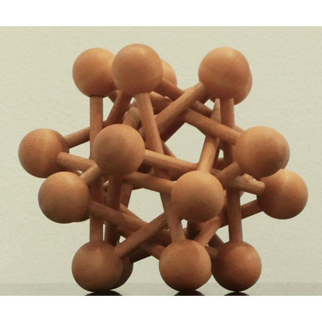 Mid-Century Wood Atomic Model For Sale In Palm Springs - Image 6 of 6