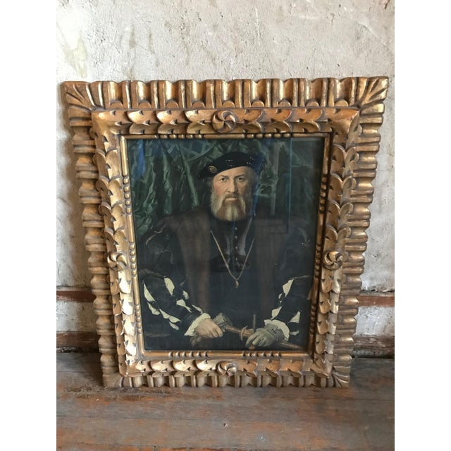 French Framed Portrait of Henry XIII For Sale - Image 3 of 7