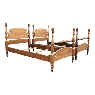 Solid Maple Vintage Twin Beds- a Pair For Sale
