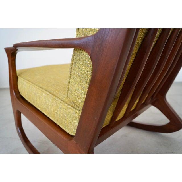 Danish Modern Ib Kofod Larsen Rocking Chair For Sale - Image 11 of 13
