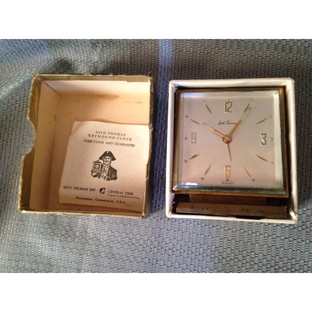 Seth Thomas Keywound Dynaire No. 915 Clock For Sale - Image 5 of 5
