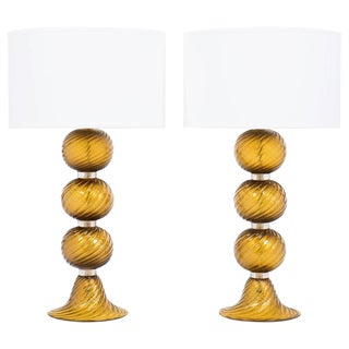 "Murano ""Avventurina"" Glass Customizable Table Lamps For Sale"