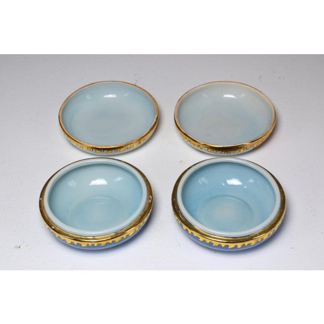 Blue Pair of 20th Century French Trinket or Jewelery Longwy Boxes For Sale - Image 8 of 13