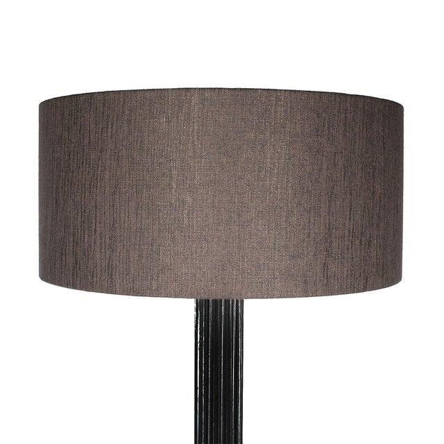 Mid-Century Modern 1960s Standing Lamp, Striated Walnut Stand, Brass, Jordi Vilanova - Barcelona For Sale - Image 3 of 10