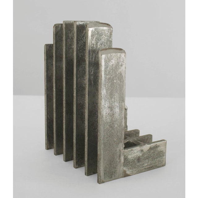 Pair of Mid-Century American Brutalist Style Bookends For Sale - Image 4 of 5