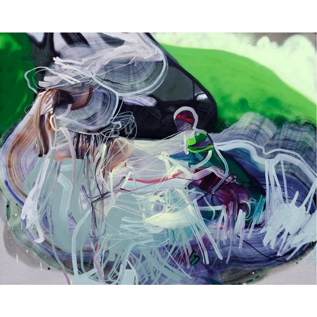 """Abstract Dana Oldfather """"Bubble Gun"""" For Sale - Image 3 of 3"""