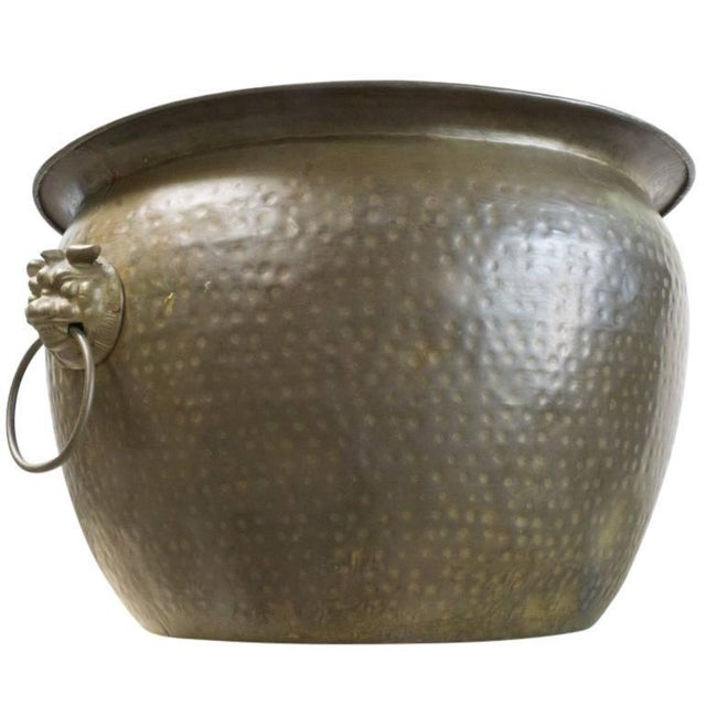 Antique Hand Beaten Brass Vessel, Circa 1930 For Sale - Image 4 of 7