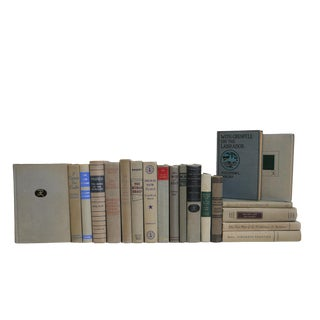 Midcentury Gray Stone Book Set For Sale