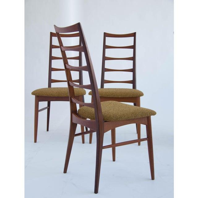 Set of Koefoeds Hornslet Teak Ladder Back Dining Chairs For Sale - Image 9 of 11