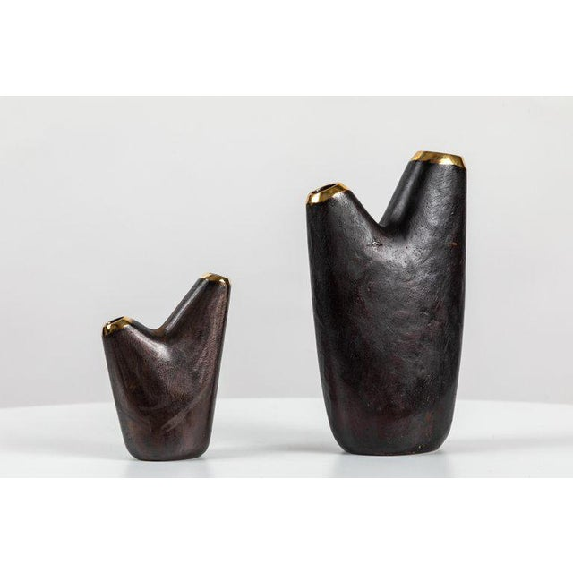 Carl Auböck Mid-Century Modern Carl Auböck Model #3794/1 'Aorta' Brass Vase For Sale - Image 4 of 13
