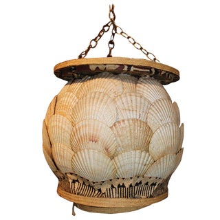 Palm Beach Regency Style Seashell Chandelier For Sale