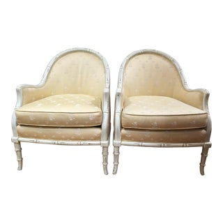 Silver Craft Bamboo Chairs - A Pair