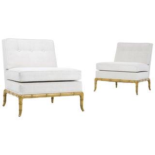 Pair of Robsjohn-Gibbings Slipper Chairs For Sale