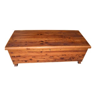 Antique Solid Red Cedar Chest For Sale