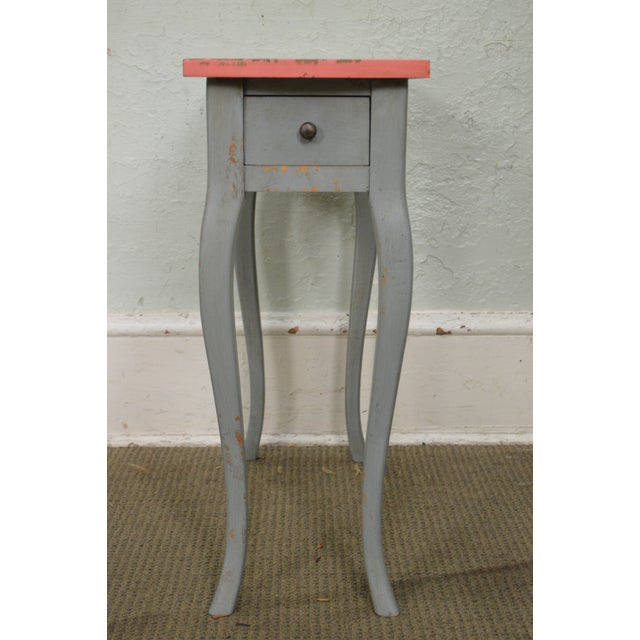 STORE ITEM #: 16098 French Louis XV Style Hand Painted Narrow 1 Drawer Side Table w/ Hot Air Balloon AGE/COUNTRY OF ORIGIN...