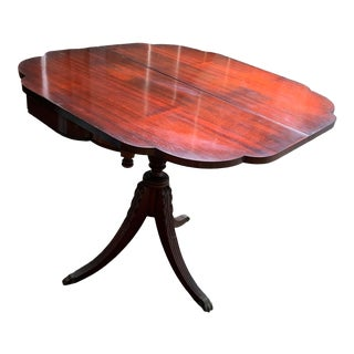 Vintage Queen Anne Polished Wood Drop Leaf Game or Center Table For Sale