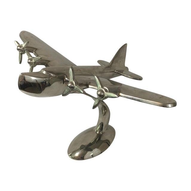 Metal Airplane Sculpture - Image 1 of 7