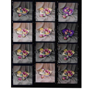 Mango Still Life Color Photo Contact Sheet 1980s For Sale