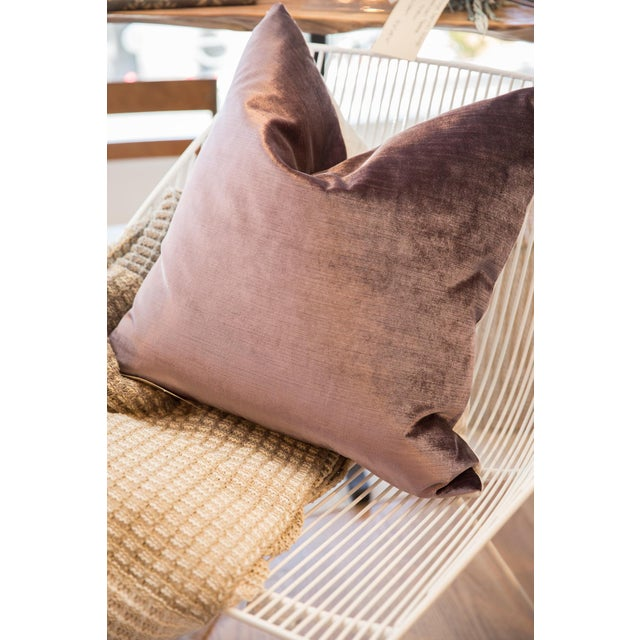 Made in Usa Luxe Velvet Throw Pillow For Sale In New York - Image 6 of 9