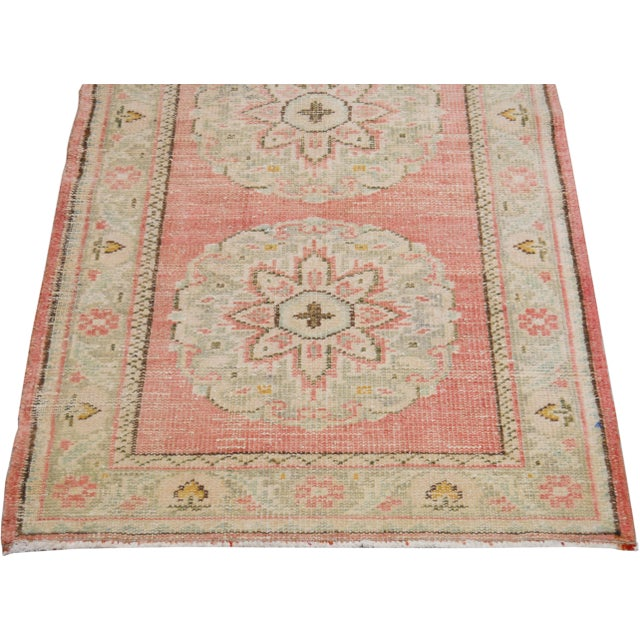 "Vintage Turkish Hand Knotted Whitewash Organic Wool Fine Weave Runner Rug,2'6""x11'6"" For Sale - Image 4 of 6"
