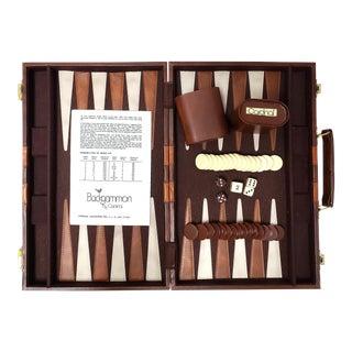 Vintage Backgammon Set W/Travel Case by Cardinal For Sale