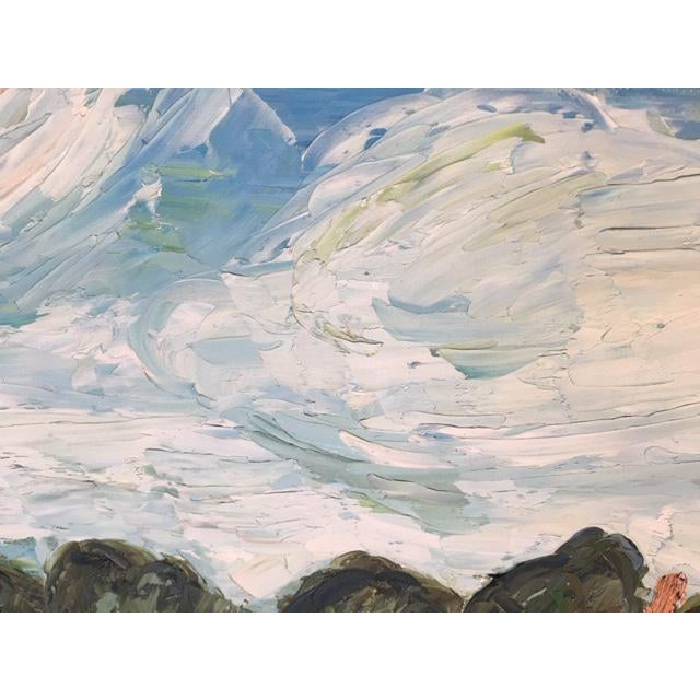 Vintage Mid-Century S. Kim Impressionist Inspired Seascape Oil Painting For Sale - Image 9 of 10