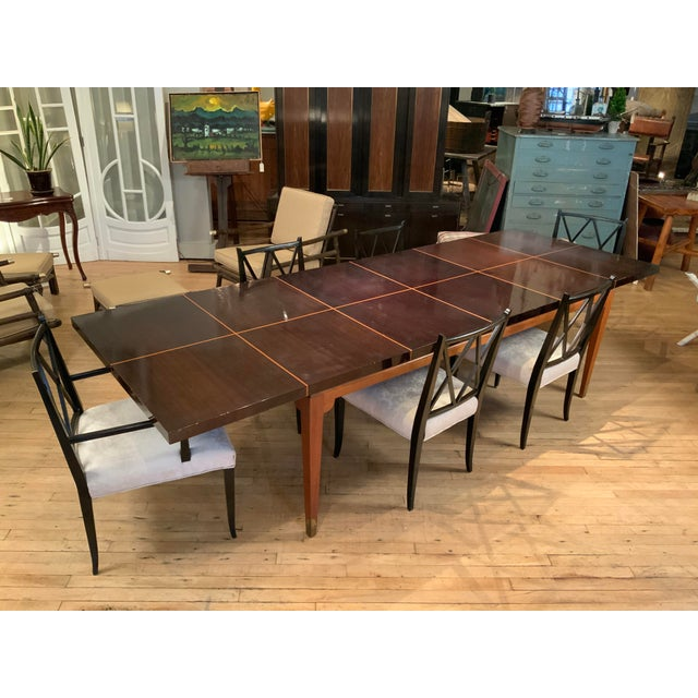 Brown 1950s Mahogany Extension Dining Table by Tommi Parzinger for Parzinger Originals For Sale - Image 8 of 13