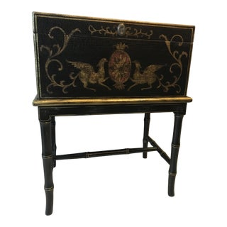 1970s Chippendale Painted Petite Chest For Sale