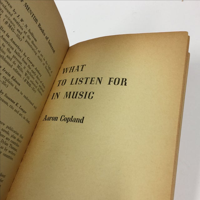 Aaron Copeland What to Listen for in Music, 1953 For Sale - Image 4 of 6