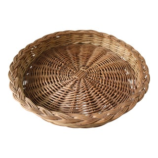 Large Wicker Serving Tray For Sale