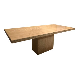 Italian Travertine Dining Table For Sale