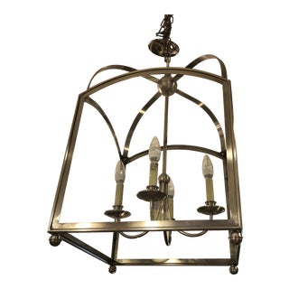 New Visual Comfort Arched Foyer Pendant by e.f. Chapman For Sale