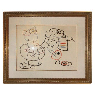 """Joan Miro, """"Ubu Aux Baleares Ii"""" Signed and Numbered 66/120 For Sale"""