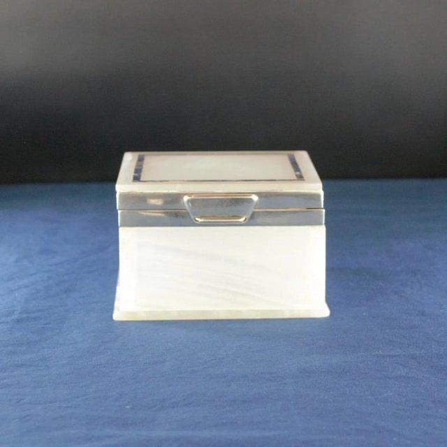 Lapis Inlay Onyx Box For Sale - Image 9 of 13