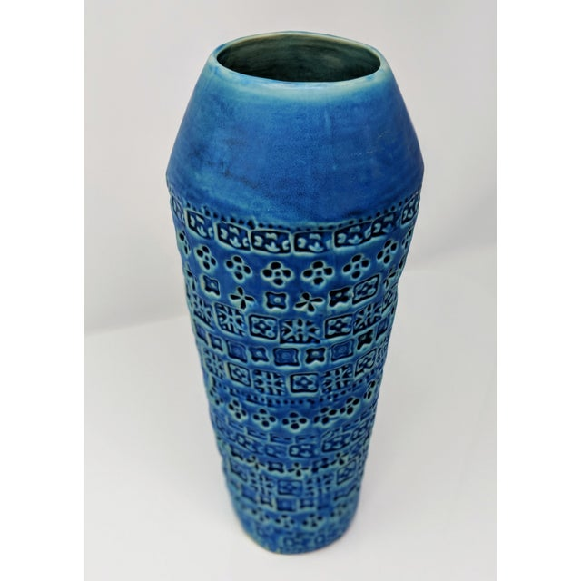 Tribal Inspired Embossed Vase For Sale - Image 9 of 13