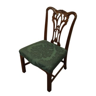Late 20th Century Wellington Hall Solid Cherry Traditional English Revival Chair For Sale