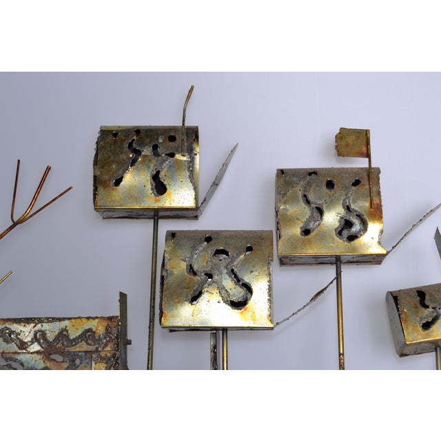 Mid-Century Modern Curtis Jere Brass Mailbox Wall Art For Sale - Image 3 of 11