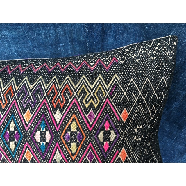 Antique Intricate Handwoven Tribal Textile Pillow - Image 3 of 9