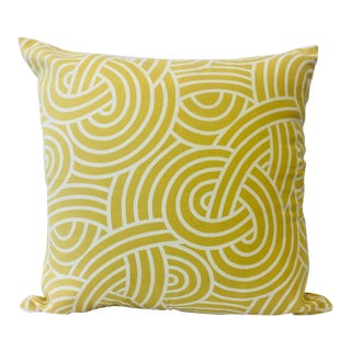 Yellow Scallop Design Pillow and Cover For Sale