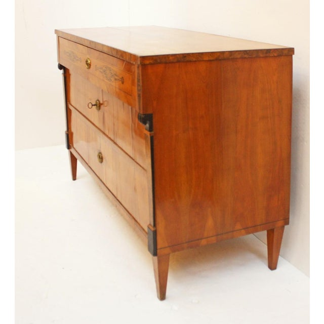 19th Century Three-Drawer Biedermeier Chest For Sale - Image 5 of 7