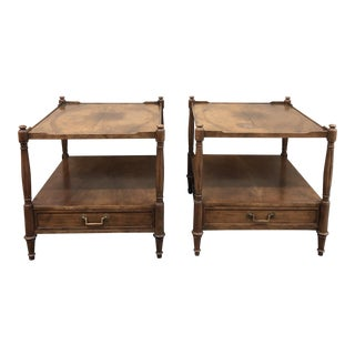 Baker Furniture Mid-Century Side Tables - a Pair