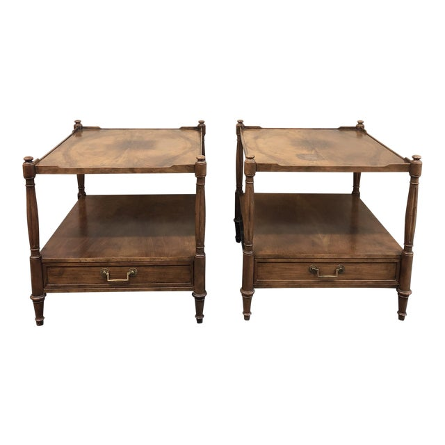 Baker Furniture Mid-Century Side Tables - a Pair For Sale