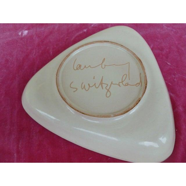 1960s Vintage Philippe Lambercy Studio Pottery Tri-Corner Dish For Sale - Image 4 of 6