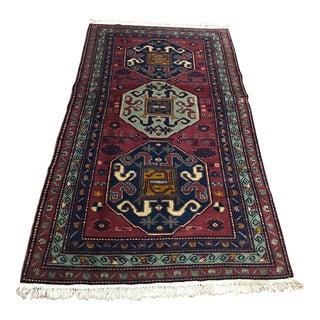 "Vintage Turkish Caucasian Rug-3'9'x6'9"" For Sale"