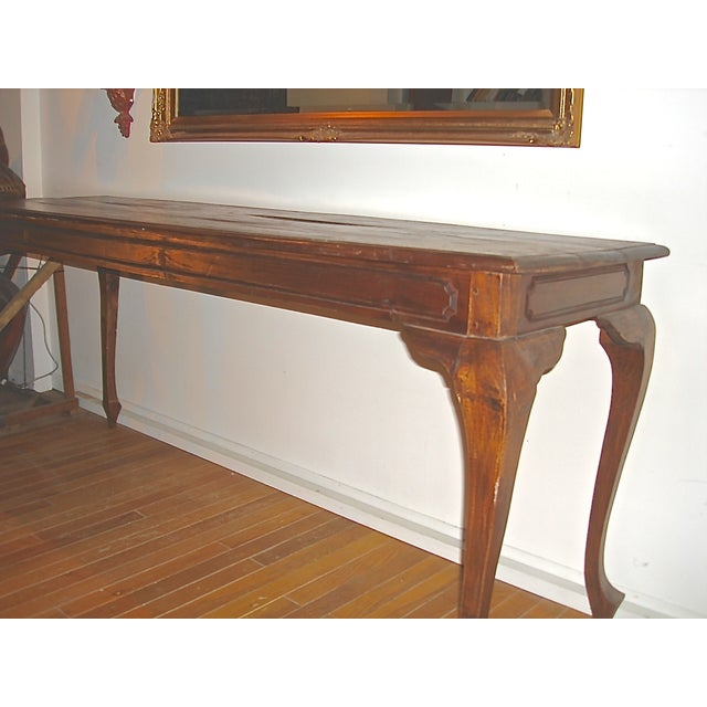 Handcrafted Antique Plank Top Sofa/Console Table - Image 4 of 10