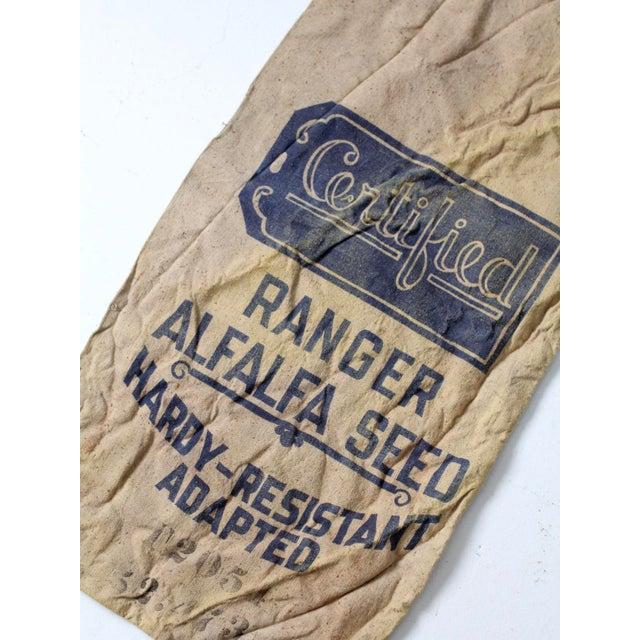 Vintage Seed Sack Bag For Sale - Image 6 of 6