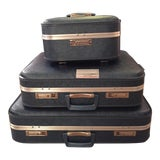 Image of Vintage Blue Luggage - Set of 3 For Sale