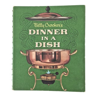 1960s Mid-Century Modern Betty Crocker's Dinner in a Dish 1st Edition and Printing