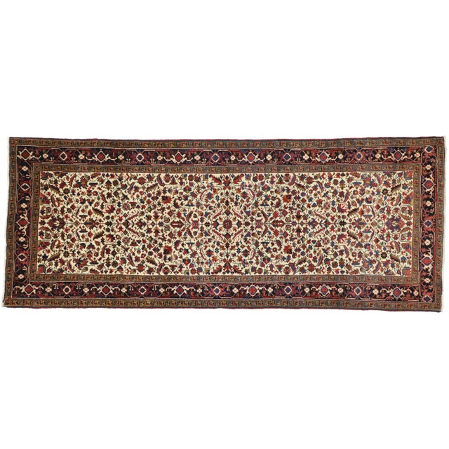 Antique Persian Heriz Rug Runner - 04'09 X 12'02 For Sale - Image 9 of 10
